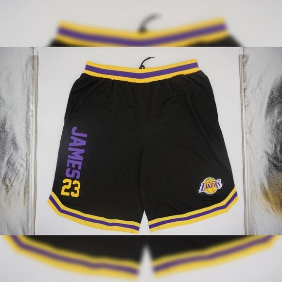 Men's LA Lakers Lebron James Basketball Shorts